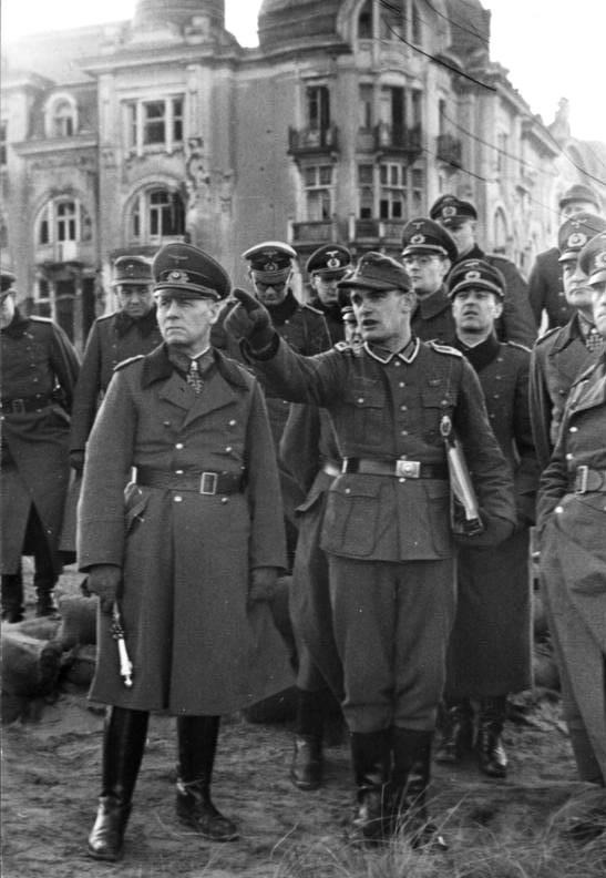 Erwin Rommel in Raversijde, Belgium. December 1943