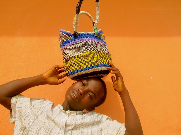 ghana styles basket of recycled