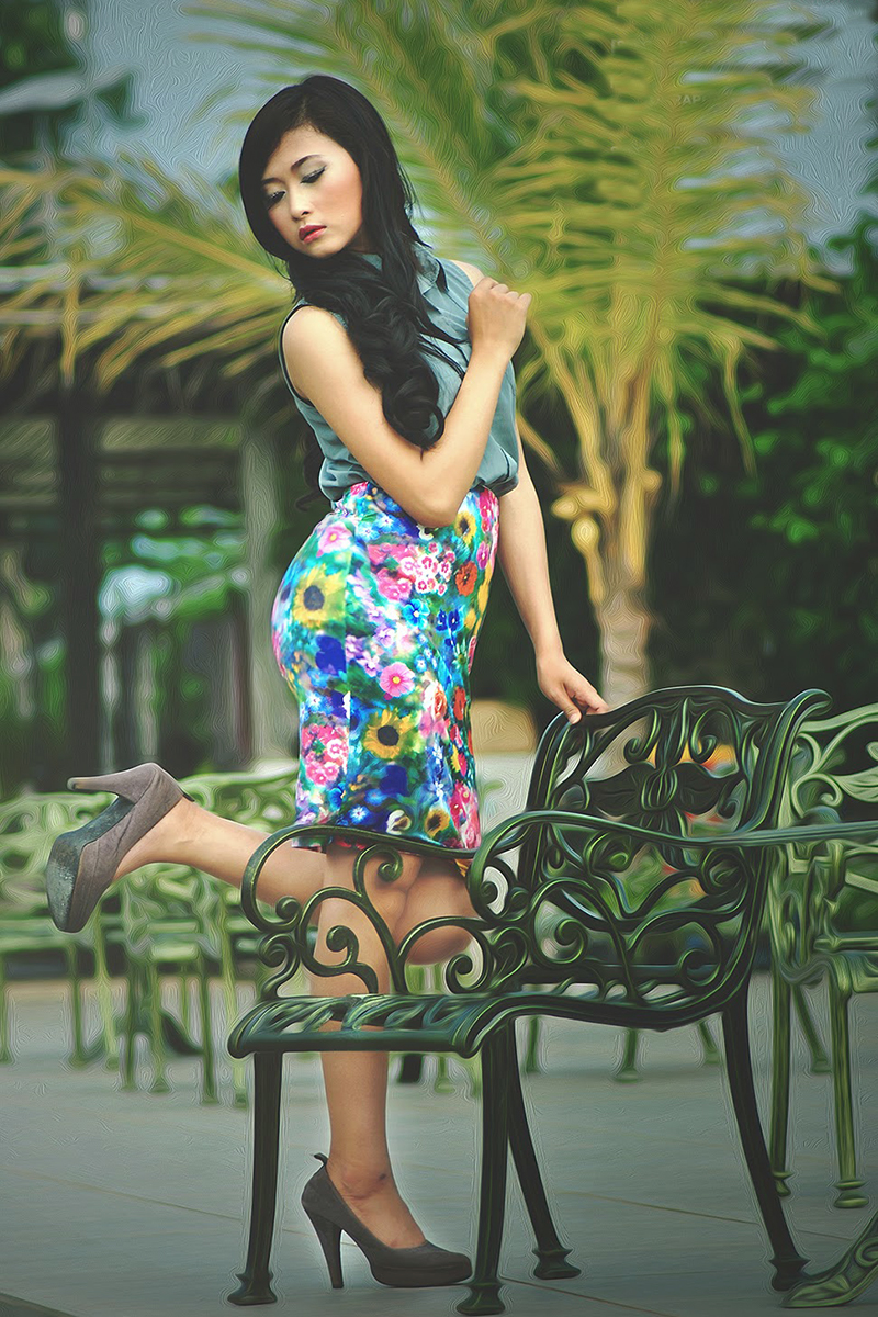 Anita Herlina tips pose model fotorafi