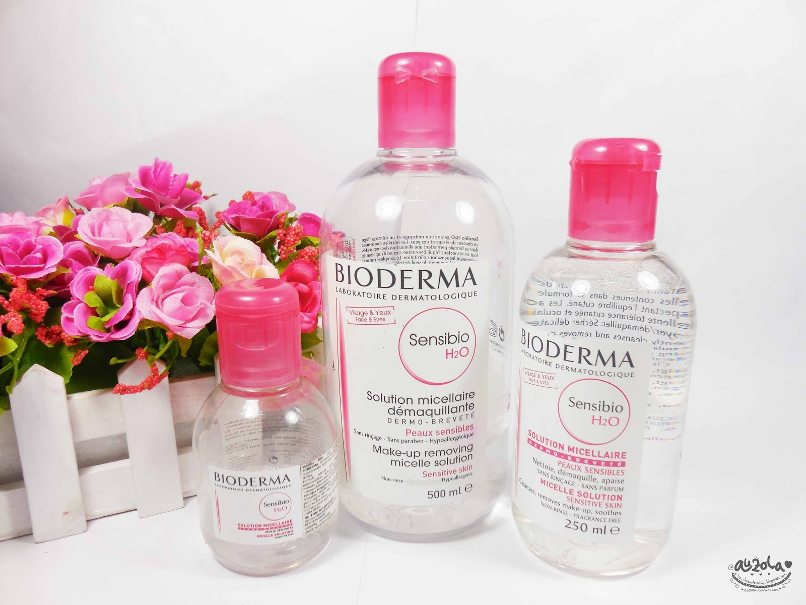 Rainbowdorable By Auzola Indonesian Beauty Blogger Review Bioderma Sebium H2o 500ml Brand Name Sensibio H20 Content100ml 250ml Made In France Price Idr 132k 219k 319k Around Usd 13 20 30