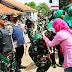 Warga Sambut Gembira Kedatangan Danrem 062/Tarumanegara Kolonel Inf.Muhamad Muchidin, S.Sos Kabupaten Garut