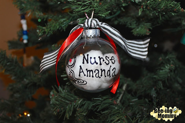 Christmas ornament, DIY Christmas ornament, DIY Ornament, paint pen craft, personalized ornament, Christmas, ornaments, homemade ornament, plastic ornament, nurse ornament, nurse gift, nurse secret Santa, Nurse ornament gift, DIY Nurse ornament, school nurse gift, doctor gift, DIY nurse gift, DIY doctor gift, Nurse Christmas gift, cotton ball ornament, cotton ornament, personalized ornament