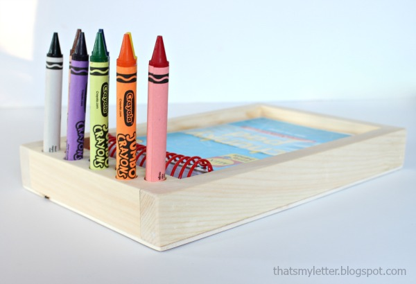 diy jumbo crayon holder free plans