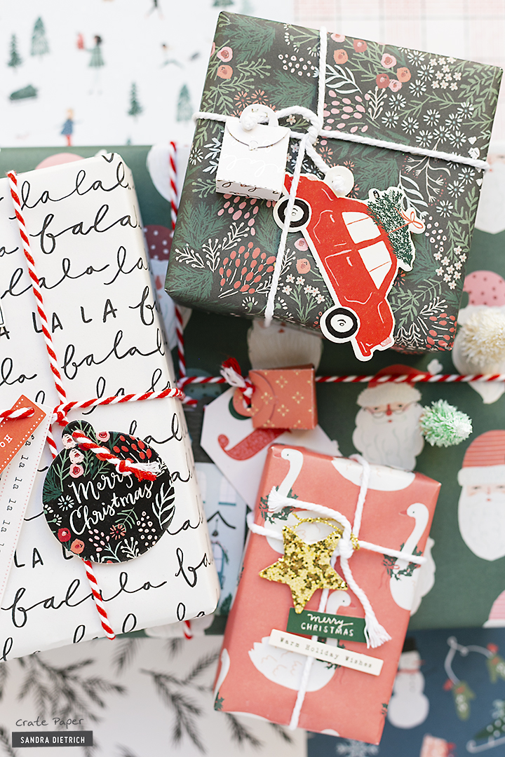 CRATE PAPER | Christmas Gifts with Merry Days Gift Wrap Kit present a