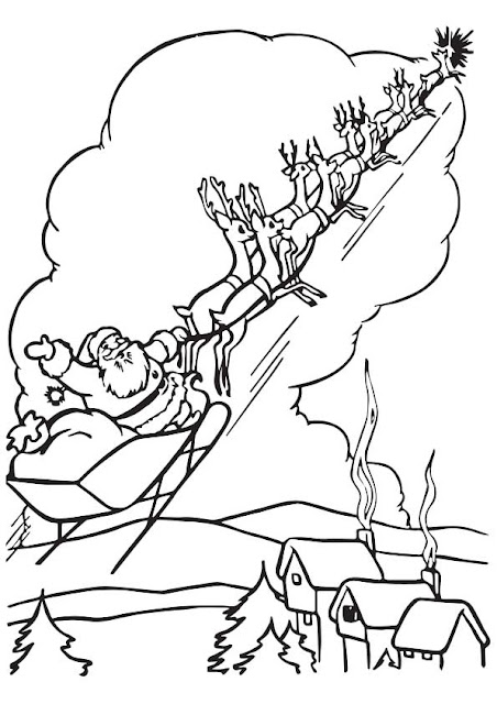 Free Santa Claus Coloring Pages for Kids