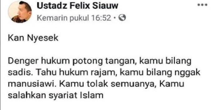 Felix Siau Gerah Disertasi Melegalisasi Zina, Begini Tanggapan Udin