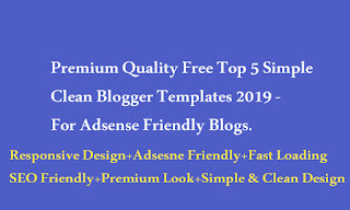 Simple Clean Blogger Templates
