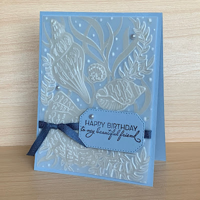 Happy Birthday card using Stampin' Up! Friends Are Like Seashells Stamp Set