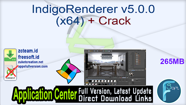 IndigoRenderer v5.0.0 (x64) + Crack_ ZcTeam.id
