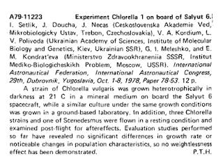 Chlorella z Třeboně - výzkum NASA