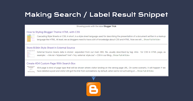 Create Post Label Summary in Blogger