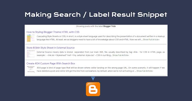 Create Post Label Summary in Blogger