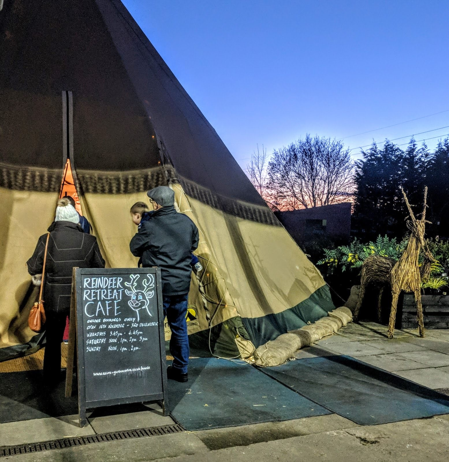 The Reindeer Retreat Tipi 2019 Booking Information