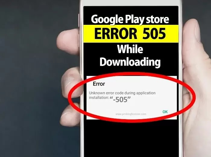 Google Play Store Error 505
