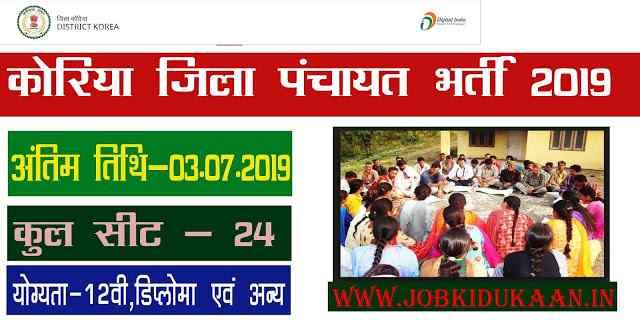 zila panchayat koriya recruitment