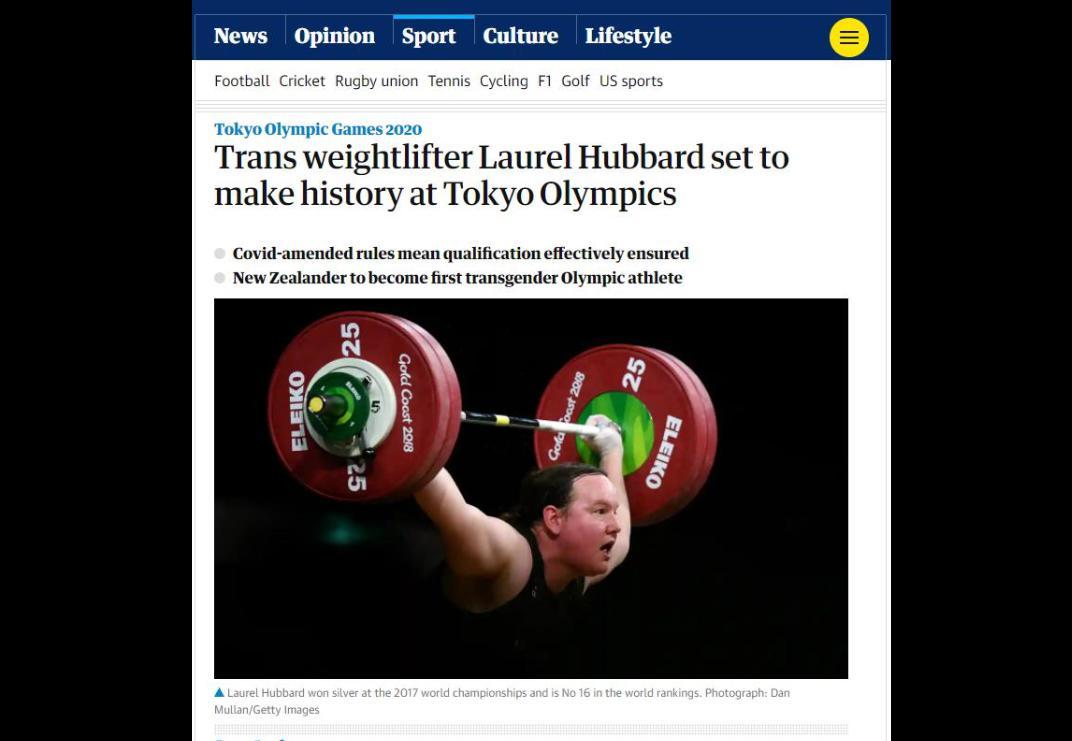 東京五輪、トランスジェンダー選手第1号はこの人に(海外の反応)