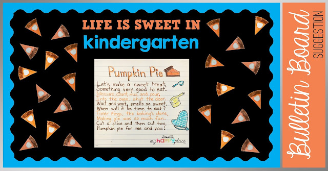Pumpkin Pie Thanksgiving Bulletin Board