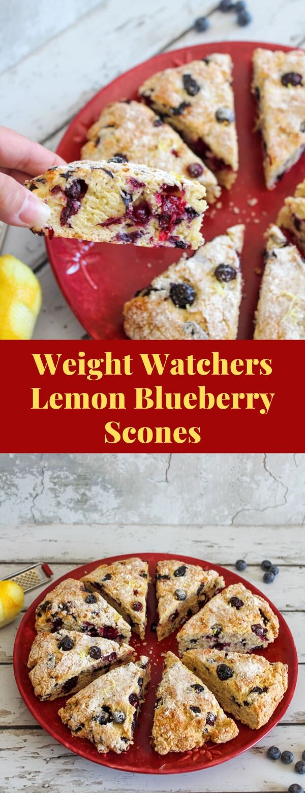 Weight Watchers Lemon Blueberry Scones