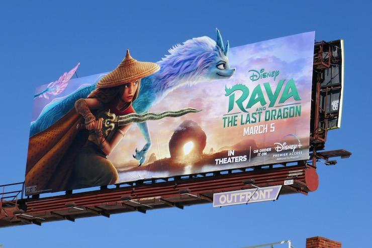 Raya and Last Dragon movie billboard