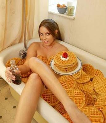 mandi dalam wafel