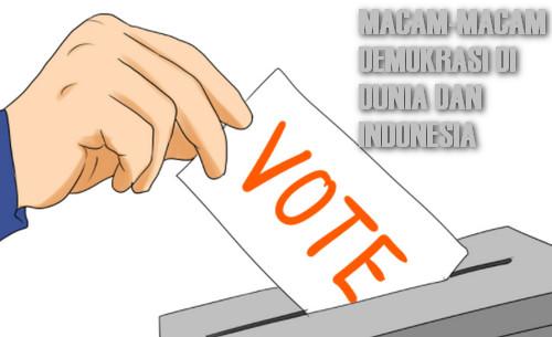 Macam-Macam Demokrasi di Indonesia
