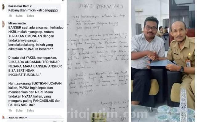 Hina Banser di Medsos, ASN Humas Lumajang Ini Minta Maaf
