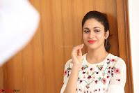 Lavanya Tripathi in Summer Style Spicy Short White Dress at her Interview  Exclusive 223.JPG