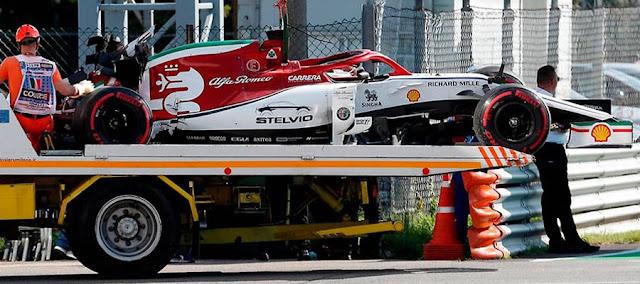Alfa Romero on a trailer