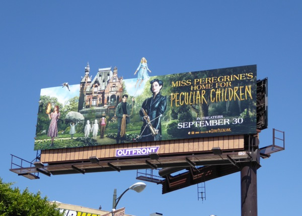 Miss Peregrines Home for Peculiar Children cut-out billboard