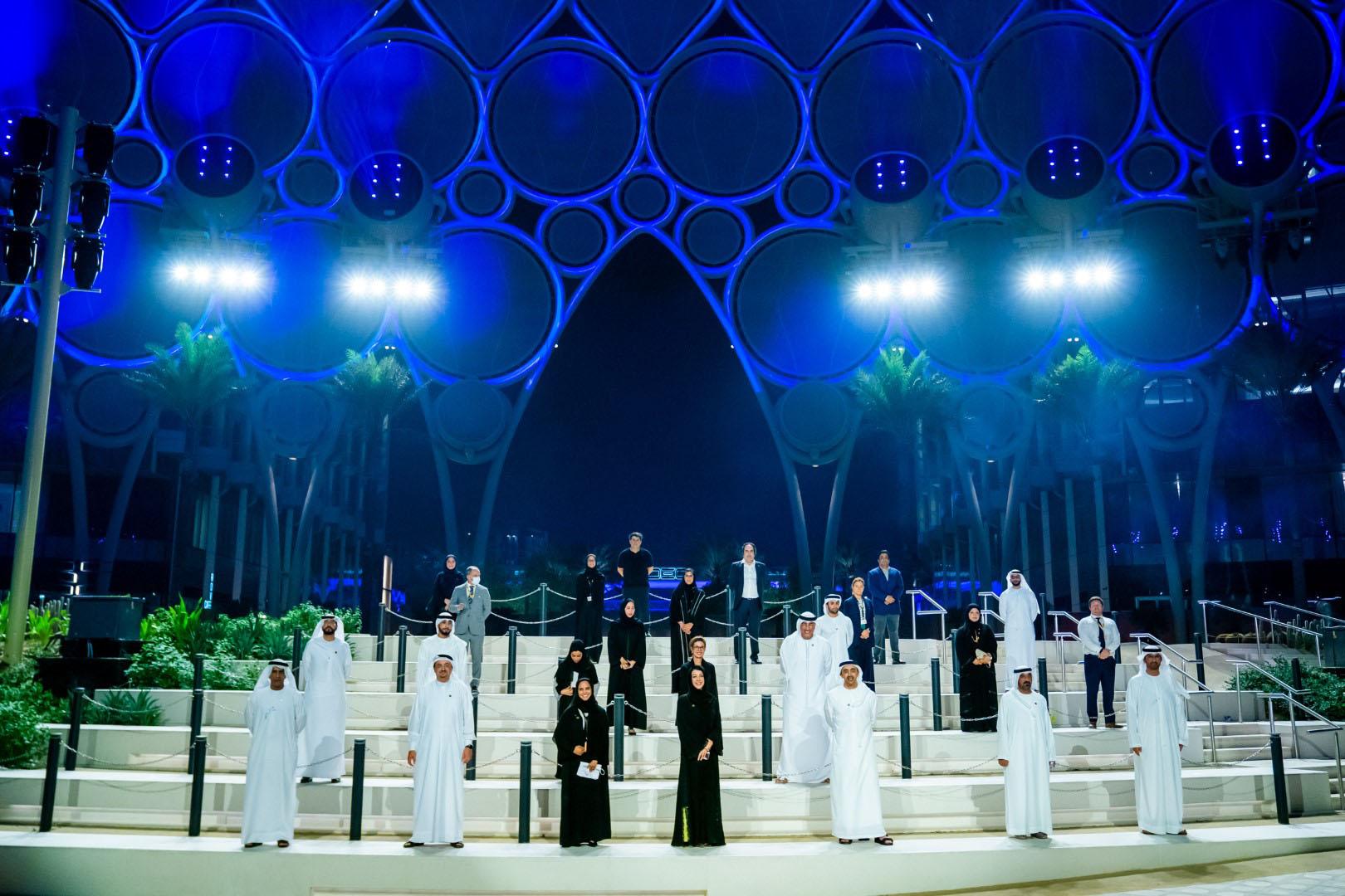 H.H. Sheikh Abdullah bin Zayed Al Nahyan visiting Expo 2020 site