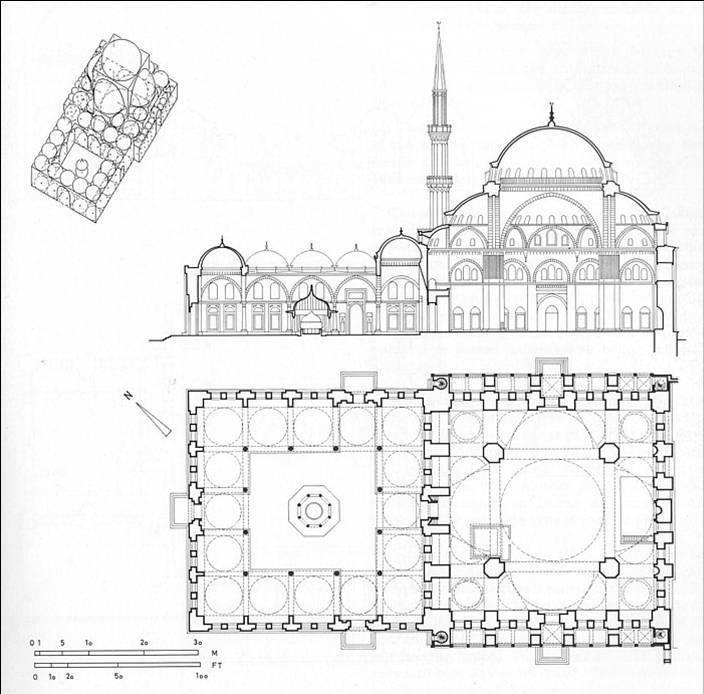 مسجد , شاه , زادة , اسطنبول , تر, mosque , جامعكيا , قطاع , بلان , SHahzadeh  , شاه زاده , مسقط , مقطع , زخارف , واجهات و مخطط