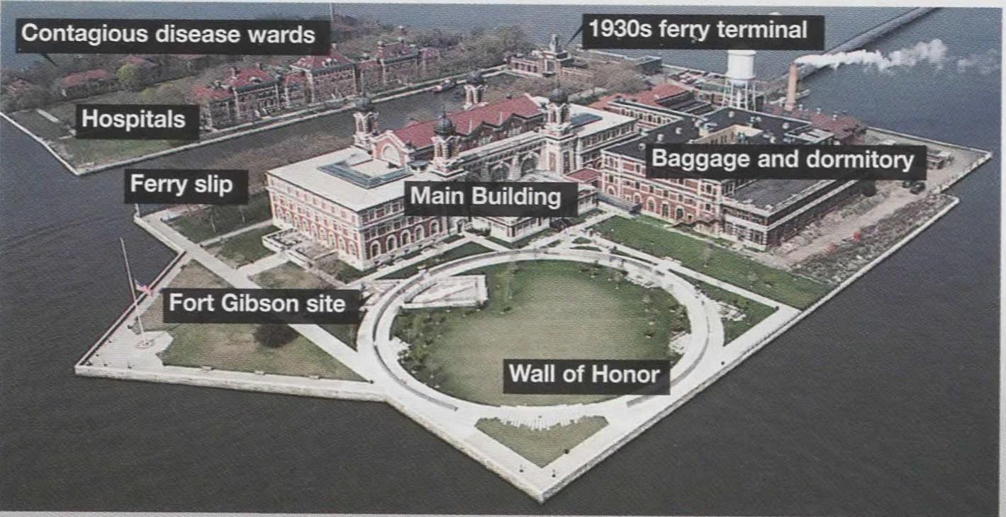 Ellis Island On Map