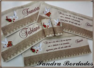 4517d24836 Sandra Lúcia Bordados  Jogo de Toalhas Casal