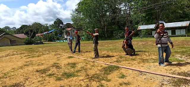 HUT Bhayangkara Ke-73, 28 Peserta Ikuti Lomba Sumpit di Seberuang