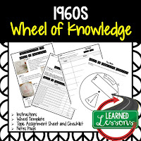 1960s,  Progressive Era, American History Activity, American History Interactive Notebook, American History Wheel of Knowledge