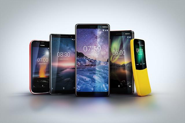Five latest Nokia phones