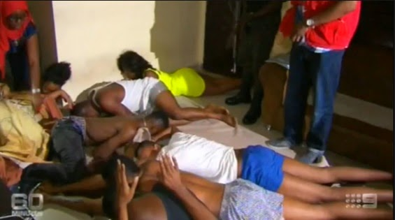Yahoo Boys Caught in the act with their girlfriends in Lagos