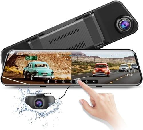 AZDOME Car 2020 Dual Lens Mirror Dash Cam