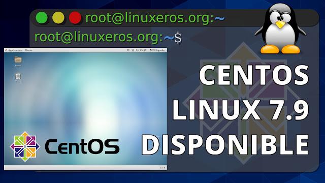 CentOS Linux 7.9, basado en Red Hat Enterprise Linux 7.9