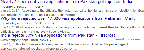 Why India rejected my Visa Application?