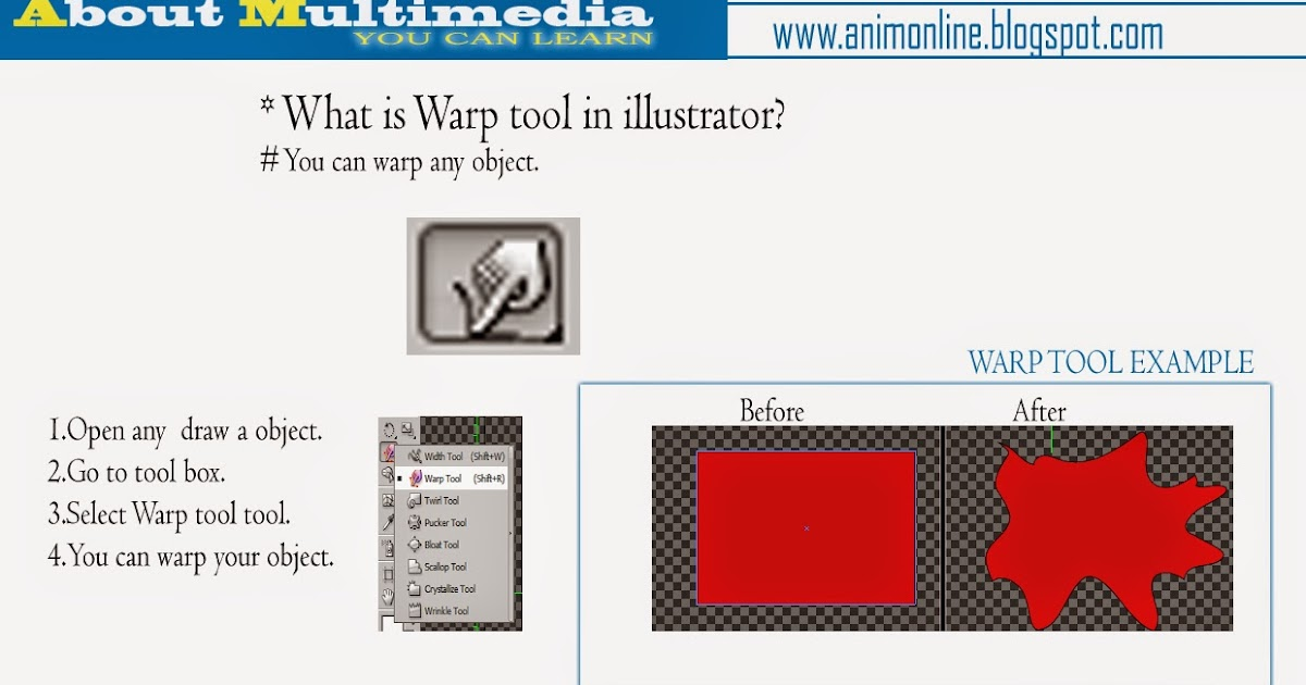 About Multimedia: What is Warp tool in illustrator