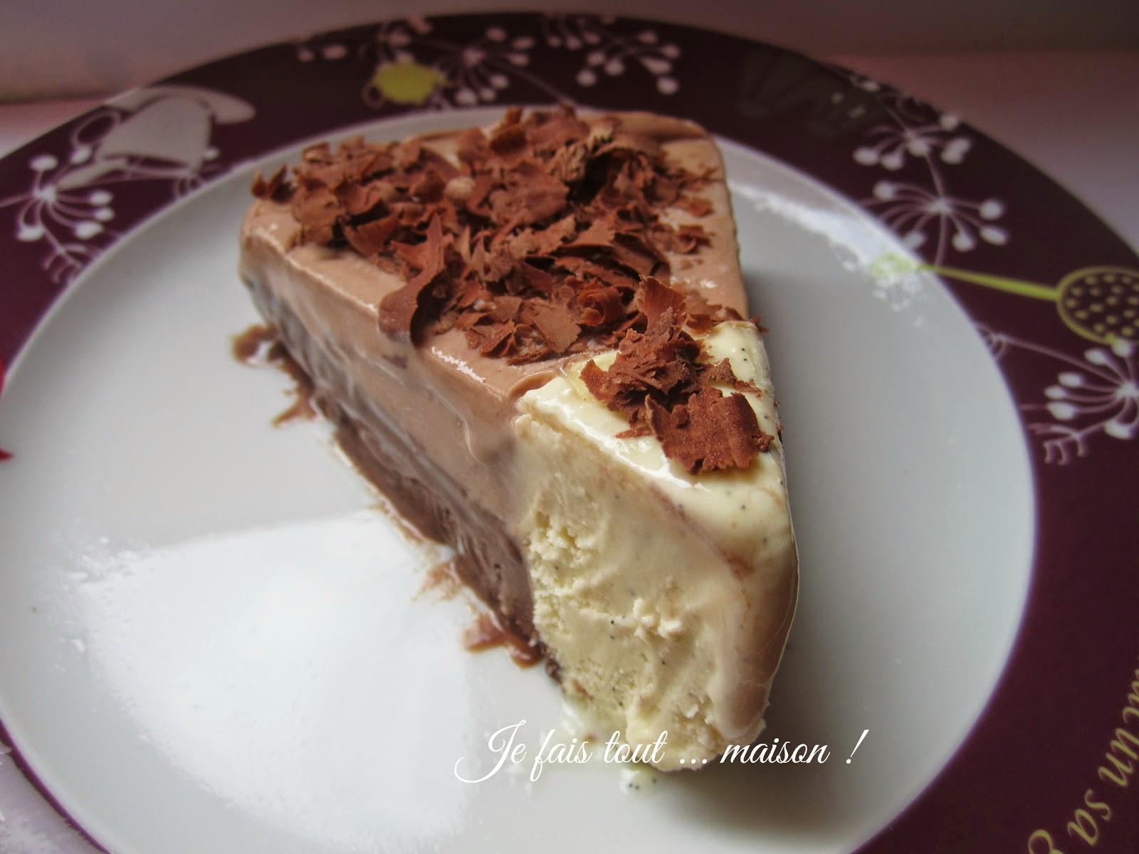 Gâteau glacé chocolat et vanille