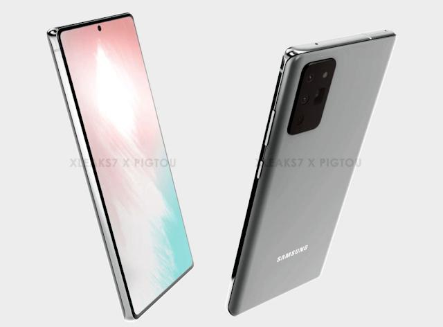 تسريبات صور تظهر تصميم هاتف سامسونج المرتقب Galaxy Note 20