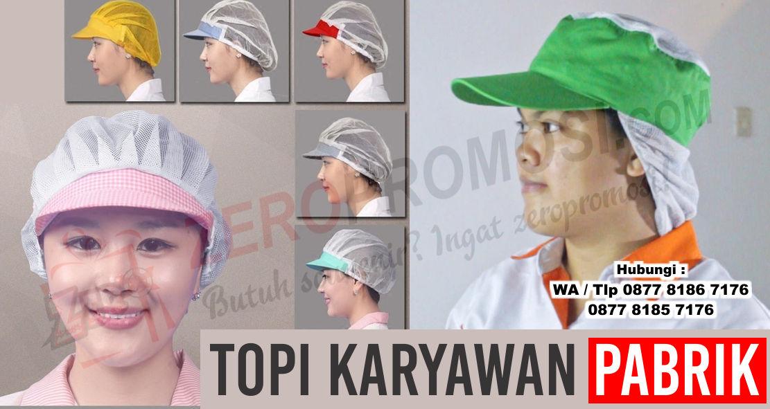 Topi karyawan pabrik, topi produksi, Topi Pet Sanggul, topi industri, topi pabrik, topi pabrik makanan, topi karyawan produksi,  penutup kepala untuk pabrik