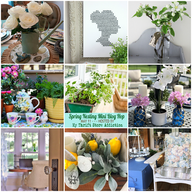 spring nesting blog hop photo collage