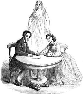 Автоматическое письмо по версии 19 века: спирит вызвал духа и поддерживает связь с ним, а медиум записывает послания