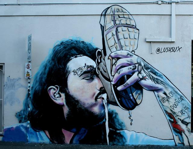 Graffitis Du Monde Street Art Australian Street Artist Lush Sux In Melbourne 2018
