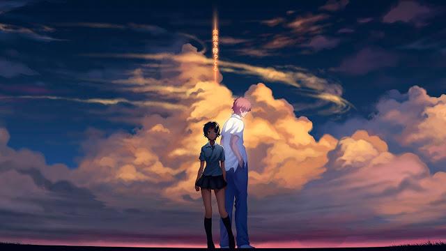 Bellísima imagen de la película de animación japonesa de Mamoru Hosoda La chica que saltaba a través del tiempo