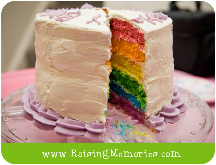 easy rainbow layer cake