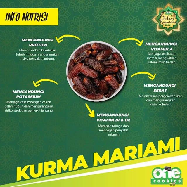 Info Nutrisi Kurma Mariami